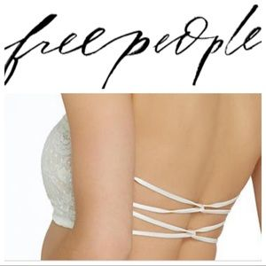 Free People strappy back lace bandeau